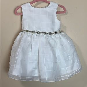 Beautiful girls white dress with embellishments